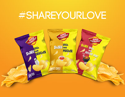 Super Crisp (Packaging & Social Media posts)