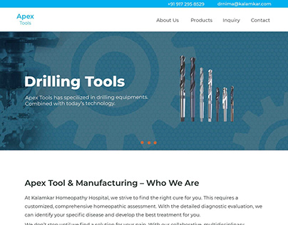 Demo Project For Tools Manufacturing Industry