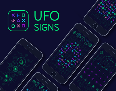 UFO SIGNS Mobile Game | UI Design