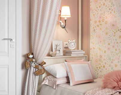 Girl's children room (flat in Noyabrsk)