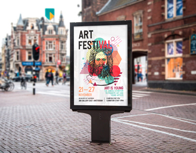 Poster for Art Festival designed by nobilini_design