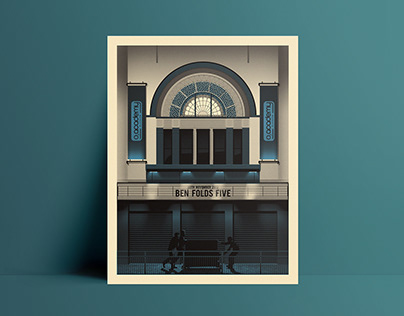 Ben Folds Five O2 Glasgow Screenprint Poster