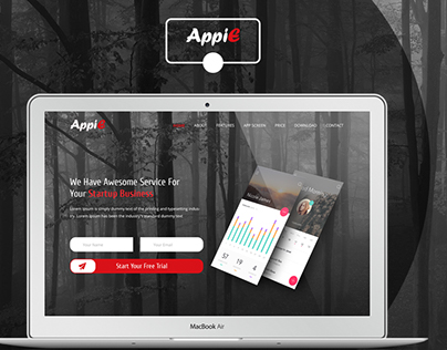 AppiE  App Landing Page (Re-Design)