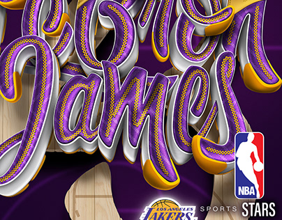 Sports Stars - NBA   Lettering series