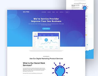 Freebie l Seo Landing Page Concept