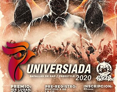 @UNIVERSIADA 2020 / TORNEO DE RAP FREESTYLE