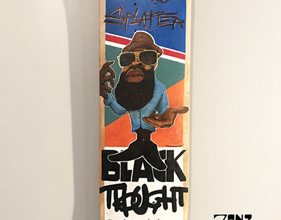 Black Thought Painting