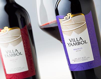 Villa Yambol wine labels by the Labelmaker