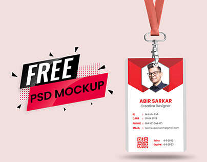 FREE ID CARD PSD MOCKUP || FREE TEMPLATE DOWNLOAD