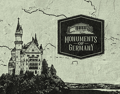 Monuments of Germany - Visual Identity Design