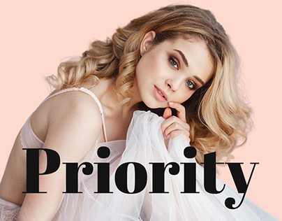 Priority - Landing page for beauty industry service