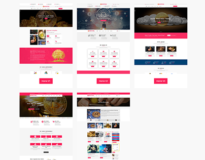 Krypton Bitcoin & Crypto Currency HTML Template