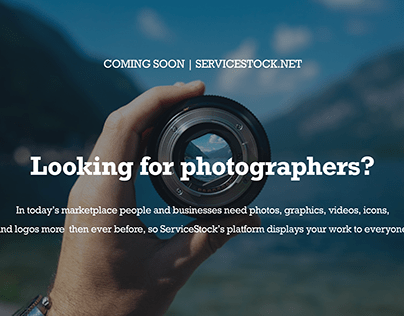 Looking for Photographers?