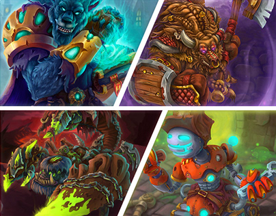 4 warcraft fan art illustrations