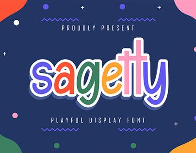Sagetty - Playfull Display Font