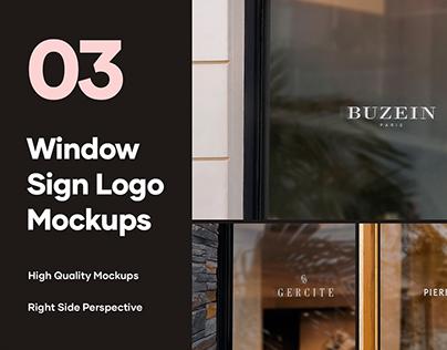3Free Window Logo Mockups