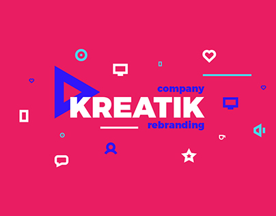 Kreatik - interactive agency rebranding & website