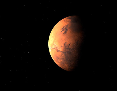 Planet Mars. Space. Planet Footage