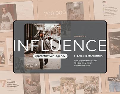 Blogger presentation about influence marketing