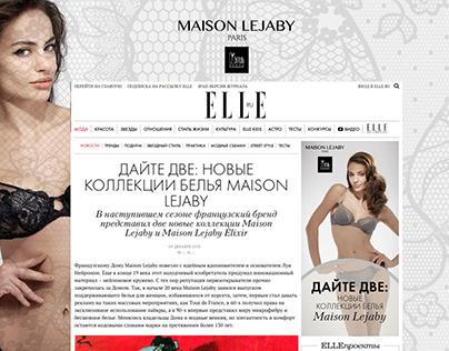 Branding for Maison Lejaby_Elle.ru