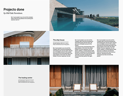 """""""We design living spaces"""" Old Oak Furniture Website"""