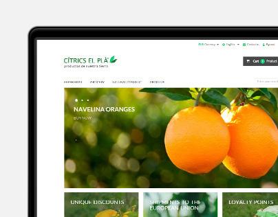 Cítrics el Plà online shop | Website responsive design