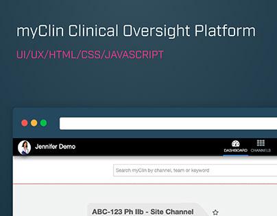 myClin Clinical Oversight Platform