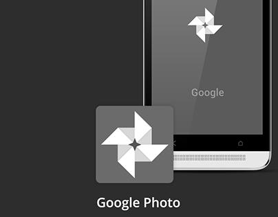 Google Photo redesign - black theme