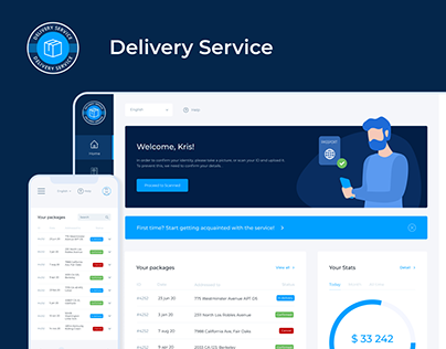 Delivery service - Web App & Dashboard