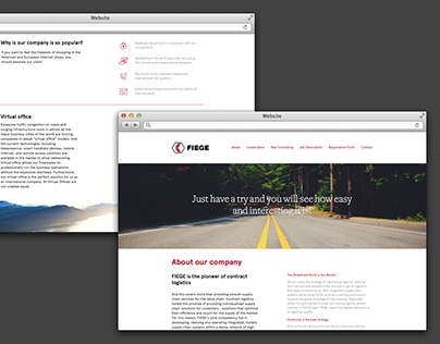 Fiege Logistics prototyping and web design