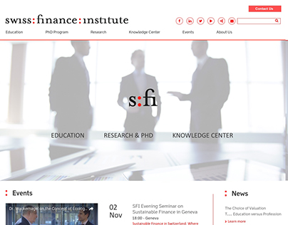 Finance Institute Website