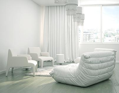 Olive green living room design