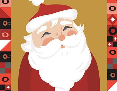Kohl's Santa's On His Way Illustration