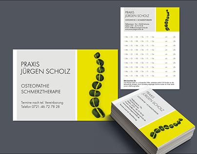 Physical Therapist Jürgen Scholz Corporate Design