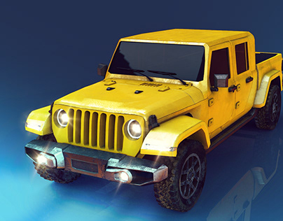 Jeep Gladiator Hard surface - mid-poly (personal work)