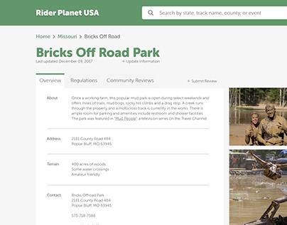 Rider Planet USA - UI re-design