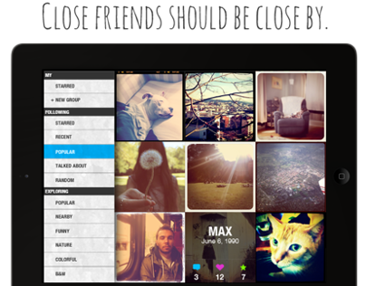 Friendzily: An Instagram Viewing iPad App