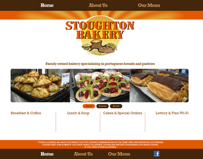 Stoughton Bakery Website Realign