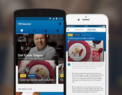 TIM Gourmet - Redesign Android and iOS App