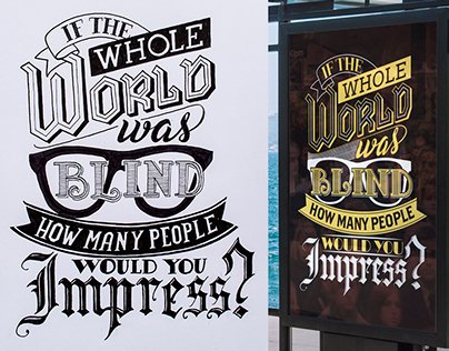 Typographic Posters - From Sketch to Vector