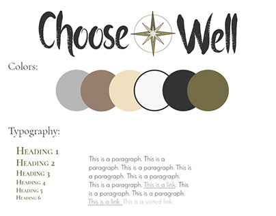 Choose Well Brand Design