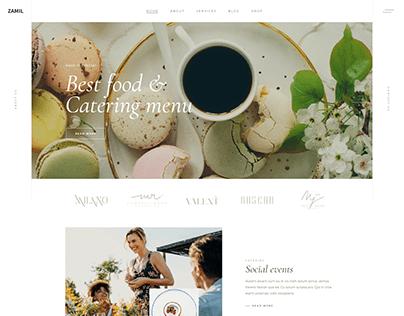 Minimal website design 2021