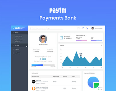 Paytm Payments Bank Dashboard
