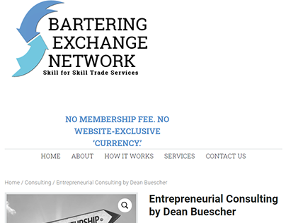 Entrepreneurial Consulting by Dean Buescher