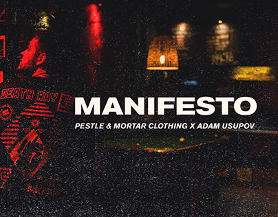 Pestle & Mortar Clothing X Adam Usupov