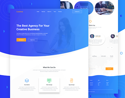 Creative - Design Agency Landing Page