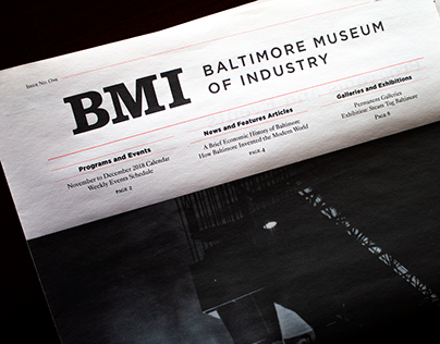 Baltimore Museum of Industry Print and Web Newsletter