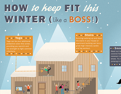 Winter Fitness Infographic for Magazine