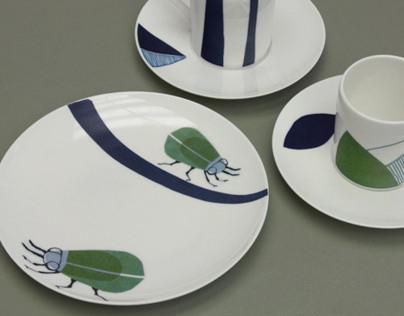 Cake plates & coffee cups