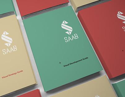 SAAB // Branding project // Print design